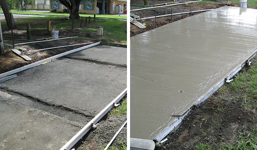 Before and After using Con-Form Formwork System